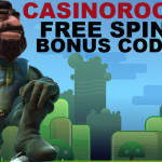 Casinoroom Bonus Codes for free spins on Gonzo's Quest Slot