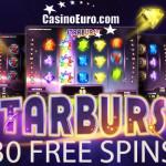 EXCLUSIVE | 30 Starburst Free Spins No Deposit required at Casino Euro