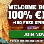 CasinoLuck |  Deposit €20 Get 100 FreeSpins on 3 Slots + 100% Bonus