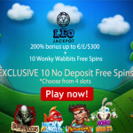 Choose from 4 slots to play 10 free spins no deposit needed at Leo Jackpot Casino