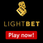 TODAY ONLY! Deposit €10 get a 300% Bonus at LightBet Casino