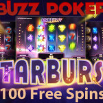 100 Starburst Slot Free Spins available at Buzz Poker this weekend