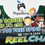100 South Park Reel Chaos Slot Free Spins available at Vegas Berry Casino