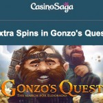This weekend get 420 Gonzo's Quest Free Spins when you play at CasinoSaga