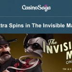 120 Invisible Man free spins now available at CasinoSaga + Canadian Dollars (CAD) & Australian Dollars (AUD) deposit options added