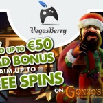 Hit the Christmas Week & Boxing Day HARD with Gonzo's Quest Free Spins-no wagering from Vegas Berry