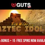 [TODAY ONLY] 50% Reload Bonus + 15 Rich Wilde & the Aztec Idols Slot Free Spins at Guts Casino