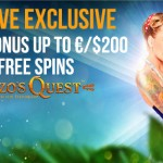 MASSIVE 50 Gonzo's Quest FreeSpins + a 200% Bonus: An EXCLUSIVE crazy offer from Betsafe Casino