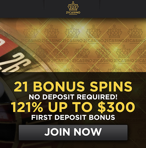 twenty one casino 50 free spins no deposit