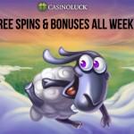 January 2016 CasinoLuck Free Spins & Bonus Schedule: 13-17 January 2016