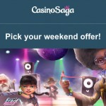 125 Free Spins on Neon Staxx Slot now available at CasinoSAGA everyday until Saturday