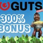 MASSIVE 300% Guts Bonus Code now available forUK,Sweden,Australia, Canada,Norway,Finland, New Zealand