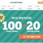 New 100 FREE SPINS welcome offer with only 1x wagering +  €20 Free now live at PAF Casino