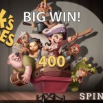 Spin Empire Casino presents a 125% Bonus & 125 Free Spins on the Hook's Heroes Slot