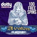 Deposit €/£/$10 & get 100 Avalon Slot Free Spins at Dotty Bingo