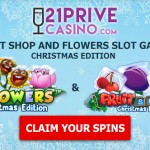 200% Welcome Bonus up to £/€/$200 + 50 Free Spins on FruitShop & Flowers Slot (Christmas Edition) at 21Prive Casino this weekend