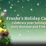PlayFrank Xmas Free Spins 2015 Advent Calendar: 1st – 6th December