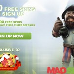 Mad Slots Casino EXCLUSIVE 30 Free Spins NO DEPOSIT REQUIRED + €/$1500 & 100 Free Spins welcome package