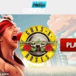 Hello Casino Bonus Code for 200% Bonus & 100 Free Spins + Guns N' Roses Slot Tournament