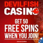 50 No Deposit Free Spins on Gonzo's Quest, Starburst or Twin Spin at Devil Fish Casino