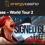 Win a signed guitar by Slash, a signed album by Axl Rose + Cash & Free Spins in the Guns N Roses Slot Tournament at Energy Casino