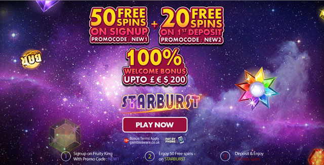 Unlock 50 Free Spins No Deposit Required With Our Fruity King No