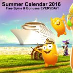 Casino Cruise 2016 Summer Calendar gives you reload bonuses & free spins EVERYDAY