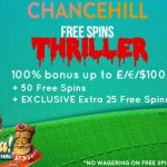 Chance Hill Casino EXCLUSIVE: Get a 100% Bonus + 50 Starburst Free Spins + an EXTRA EXCLUSIVE 25 Free Spins on Aloha! Cluster Pays
