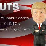 Is it Gonna Be TRUMP or CLINTON? Help decide & get a 150% Bonus at Guts Casino