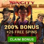 Whats your Vice? Find out at Sin City Casino with a 200% Bonus up to €£$100 + 25 Wild Wild West Free Spins