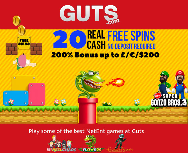 New 2017 Guts Casino Bonus Code For 20 No Deposit Free Spins