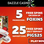 Dazzle Casino February 2018 No Deposit Free Spins