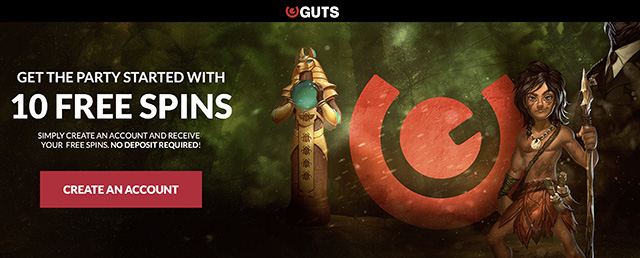 Guts casino 20 free spins