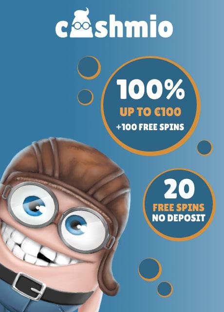 Cashmio CASINO - 20 Free Spins No Deposit Required