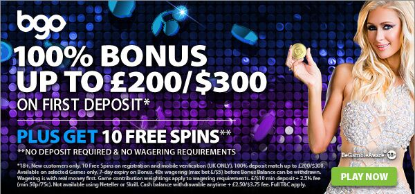 BGO CASINO UK No Deposit