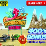 MASSIVE 400% Bonus & 30 Cash Spins (No Wagering) at Wunderino Casino