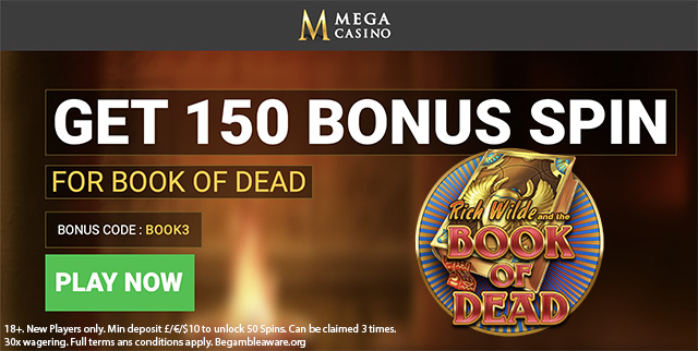 April 2019 Mega Casino Bonus code