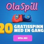 OlaSpill Free Spins No Deposit Required now available. Get 20 Free Spins (with NO WAGERING) on sign up!(NORWAY ONLY!).