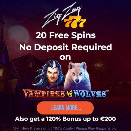 ZigZag777 no deposit free spins