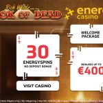Your weekly HEADS UP is here! Get 30 Free Spins NO DEPOSIT REQUIRED on the Book of Dead Slot at Energy Casino