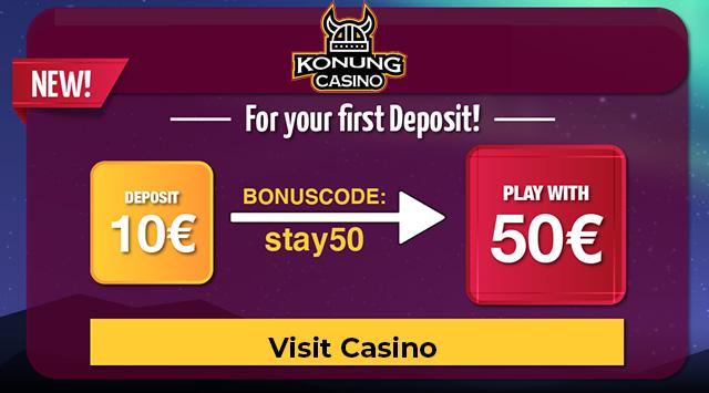 Konung Casino Bonus Code