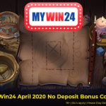 MyWin24 April 2020 No Deposit Bonus Codes now available. Get 50 Free Spins No Deposit Required