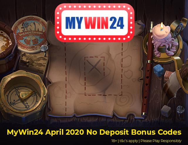 Mywin24 April 2020 No Deposit Bonus Codes