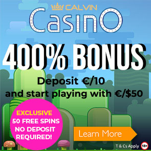 400% Exclusive Bonus at Calvin Casino