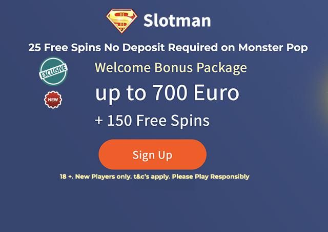 SlotMan Casino No Deposit Free Spins