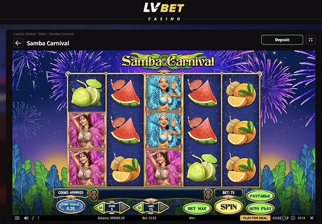 Samba Carnival Slot Spins