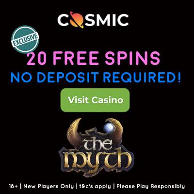 Cosmic Slot No Deposit Bonus
