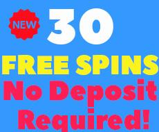 30 FREESPINS NO DEPOSIT BONUS