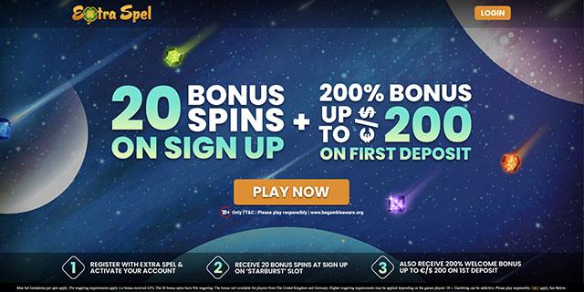 Extra Spel No Deposit Bonus