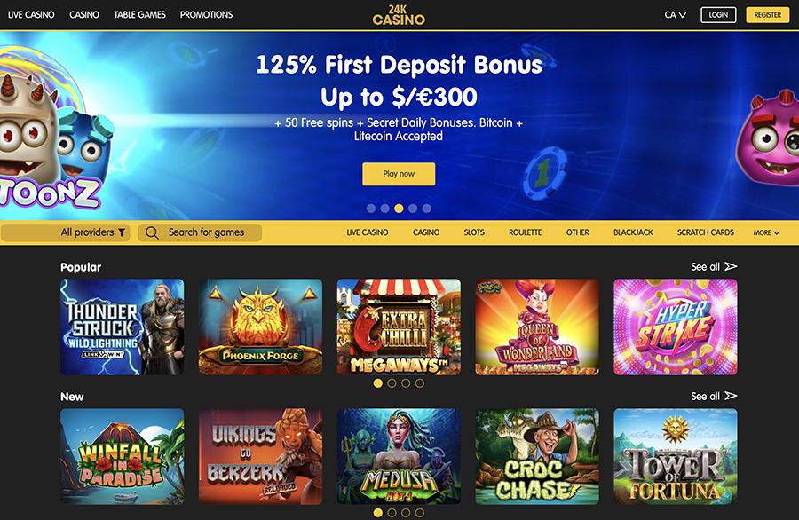 24K Casino No Deposit Bonus